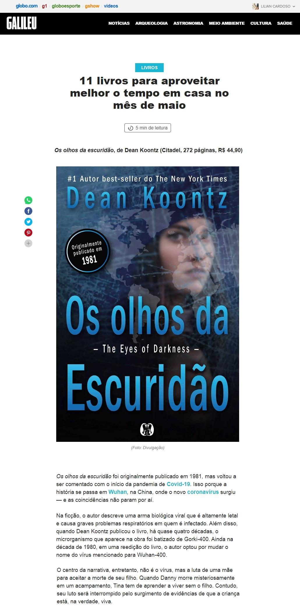 Os olhos da Escuridão - Dean Kootz